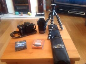 Panasonic LUMIX G2 DSLR with 14-42mm lens & Joby Gorillapod & set of lens filters