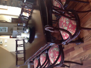 Antique Dining Table/10 Chairs/China Cabinet