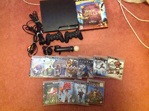 Used PS3 with controllers and games bundle