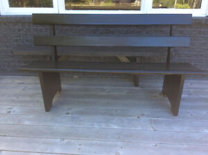 Solid Oak Garden Bench