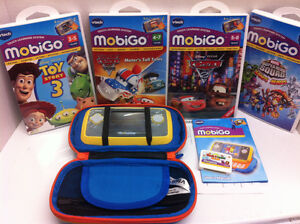 MobiGo Vtech learning system with 5 games