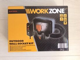 Brand New Workzone Outdoor Wall Socket Kit
