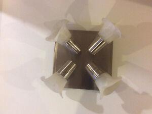Flower Light Fixture for Bathroom Lights Kitchen White Lighting