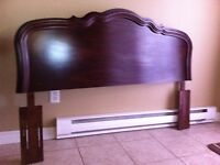 """Doube bed size   ""Headboard Only""   Cherry wood from Sears"