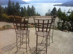 Italian Style Wrought Iron Bistro Chairs