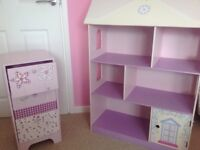 Girls storage unit and 3 drawer chest
