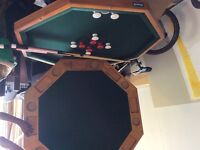 Combination Table, Pool table and bumper pool