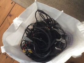 Bag of leads, scart sockets