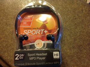 Sport MP3 headphones 2 gig music storage