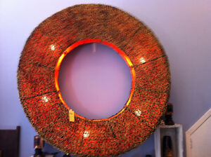 HUGE NEW HAND MADE RATTAN CHATTRA LIGHT London Ontario image 2