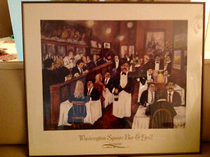 """Guy Buffet """"Washington Square Bar & Grill"""" Framed Picture"""