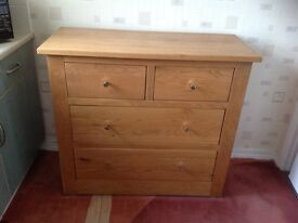 Beautiful solid light oak chest of drawers
