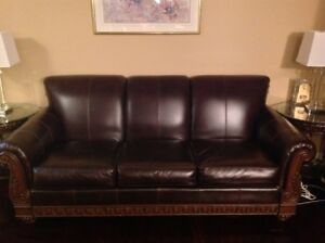 Beautiful Leather Couch! Must See!