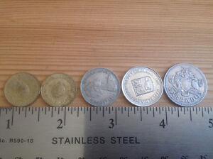 COINS from ARGENTINA, BARBADOS, BAHAMA ISLANDS, VENEZUELA