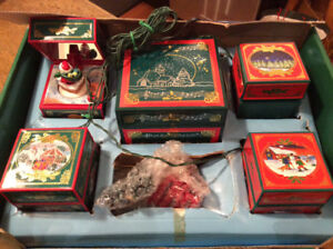 NOMA  MUSIC BOX CHRISTMAS COLLECTION 4 ANIMATED/ MUSICAL BOXES,