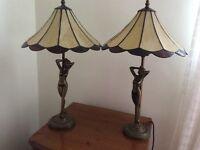 Glass figurine lamps