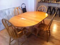 Oak table and chair set $125