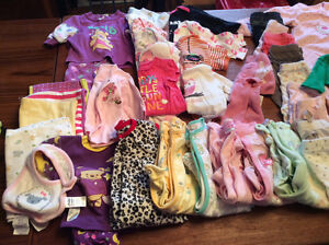 75 PIECE BABY GIRL LOT 0-3 Months