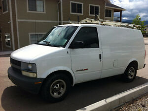 2002 AWD Astro Cargo Van W/LADDER RACKS AND SHELVING