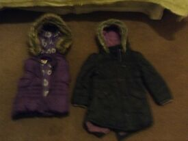 Girls winter coats-nearly new