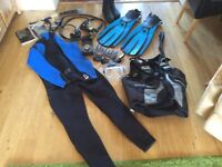 Scuba diving equipment, complete set