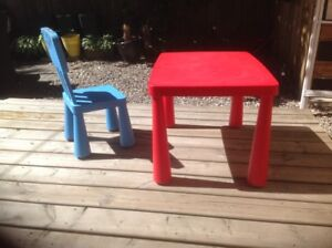 IKEA Mammut children's chair and table