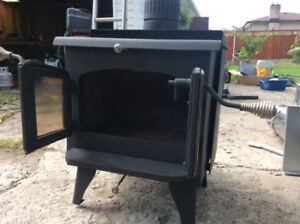 Wood Stove with 15 ft stove pipe