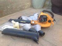 McCulloch petrol vacuum blower (spares or repair) BVM 250