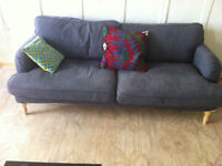 Ikea STOCKSUND sofa, IKEA MELLTORP table and 4 chairs FOR SALE