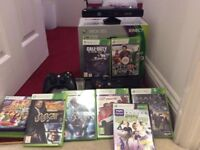 Xbox 360 Kinect console and games in original box
