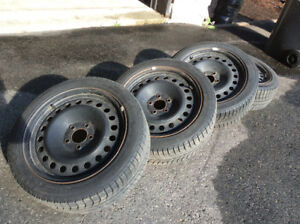 2 years old Michelin 225/45 R17 winter tires used for Tiguan