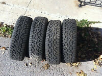 """13"""" Winter Tires on Rims and Wheel Covers"""