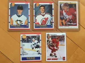 Cartes hockey recrues de Jagr, Fedorov, Brodeur, Blake