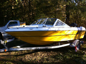16 Ft Motorboat with Trailer and Evinrude e-tec 75HP Outboard