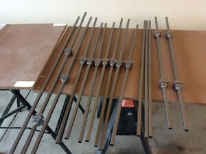 BRAND NEW PEWTER WROUGHT IRON STAIR RAILING BARS