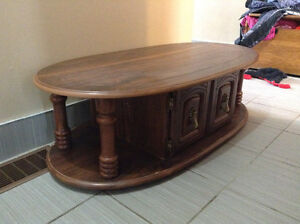 Coffee Table Antique Solid Wood