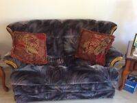 3 pc furniture set couch love seat and rocker chair