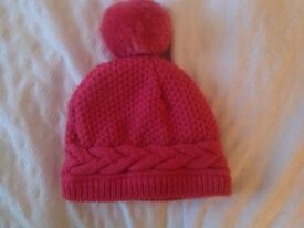 Beautiful baby girl bobble hat brand new without tags