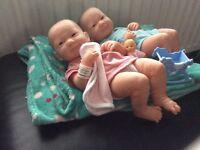 Twin life like reborn dolls