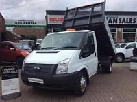 63 REG TRANSIT TIPPER 2.2 350 DRW 125 BHP LOW MILES FSH 200 VANS OPEN 7 DAYS