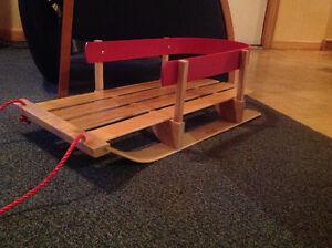 jab wooden baby sleigh