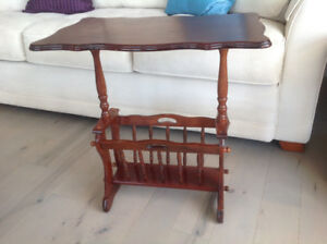 """Magazine table made of solid wood 24""""x24"""" 15 deep"""