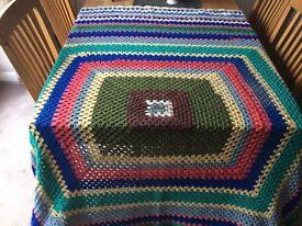 Large Hand made Crochet blanket