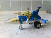 Vintage Mego Micronauts Photon Sled and Time Traveller figure