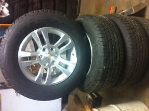 2016 Chevy/Gmc 18 inch polished alloy/Goodyear tires