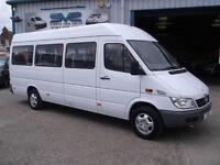 2006 06 MERCEDES SPRINTER LWB 311CDI TRAVELINER 17 SEAT MINIBUS 31,000 MILES GEN