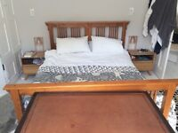 King size shaker style wooden bed - lovely quality
