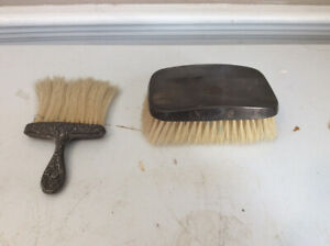 (2) ANTIQUE STERLING SILVER CLOTHES BRUSHES
