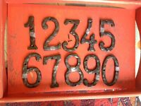 Cast iron house numbers 6 inches