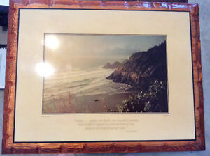 Wooden Biblical Text Shoreline Picture